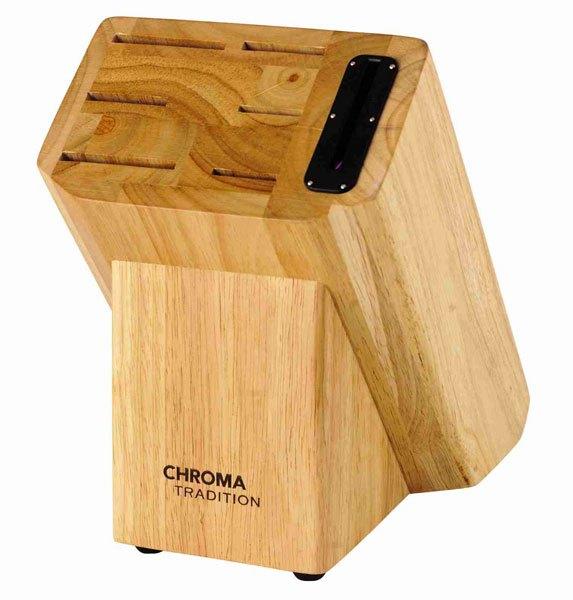 CHROMA Tradition Messerblock mit integriertem Schleifgerät